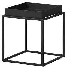Table d'appoint carrée métal laqué noir Bubble   LesTendances.fr