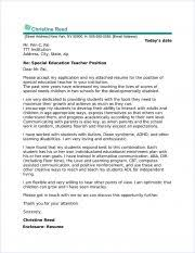 Sample Education Cover Letter Special Education Cover Letter Sample