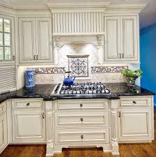 Kitchen With Stone Backsplash White Kitchen Cabinets Stone Backsplash Home Design Ideas