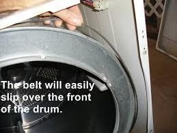 kenmore dryer belt. amana dryer step 1 top secured kenmore belt
