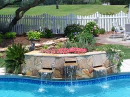 Diy Pool Waterfall Pool Fountains And Waterfalls Look Of A Waterfall To Any