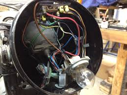 1968 bmw r60 2 tin shack restoration wiring harness comes out first back to front the brains of the operation are in the headlight bucket