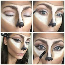 image result for deer makeup step by step