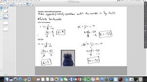 math 8 lesson 2 1 solving multi step equations including rational coefficients