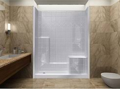 walk in showers. Delighful Showers 60x32 3 Piece AcrylX WalkIn Shower With Built In Seat On Walk In Showers H