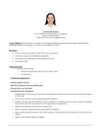 Sample First Job Resume job objectives examples job objective resume examples berathencom 53