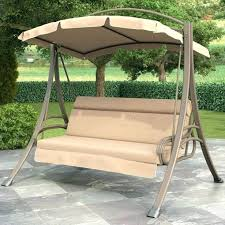 3 person outdoor swing with canopy porch in beige tan brown hampton bay futon patio replacement 3 person outdoor swing replacement cushion