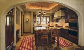 French Country Island Kitchen Splendid Rustic French Country Kitchens With False Ceiling Kitchen