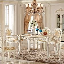 antique style italian dining table 100 solid wood italy style luxury marble dining table set pfy10052 dining table dinner table with 1608 05 piece