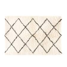 grey cotton and wool berber rug 160 230 maisons du monde maison du