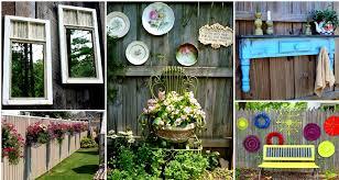 Elegant Backyard Fence Decorating Ideas Decoration Diy Fence Decorations  Repurposing And Modifying