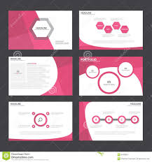 vector brochure template design pink elements stock vector pink abstract presentation template infographic elements flat design set for brochure flyer leaflet marketing royalty