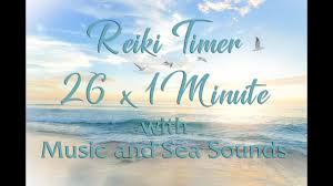 5 Min Timer With Music Reiki Music With Bell Every 1 Minute Reiki Music With Sea Sounds