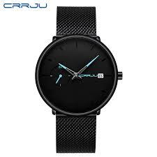 <b>Crrju Men Watch</b> Waterproof Date Calendar Analogue Wristwatches ...