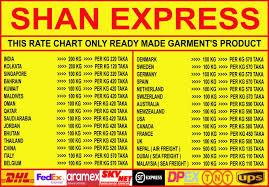 Dhl International Rates Chart Shan Express Expressshan Twitter
