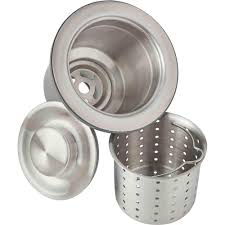 Elkay 35 In Kitchen Sink Drain With Deep Strainer Basket And Brass
