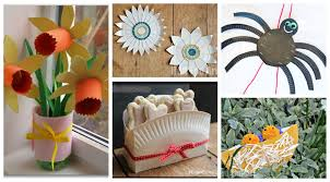 Decorative Items With Paper Paper Plate Crafts Youtube