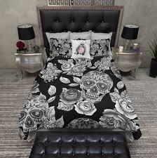 sugar skull comforter sets sugar skull bedding skull duvet cover