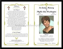 Sample Memorial Program Template funeral templates Ninjaturtletechrepairsco 1