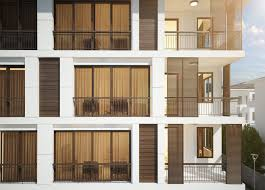 lavinia apartment by yucel partners architecture #facade #apartment #modern  #shutter #wood