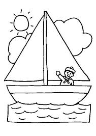 Kleurplaat Zeilboot Boyama Kleurplaten Boot Knutselen Boten