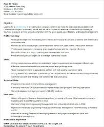 Job Description Project Manager Construction Template Summary Sample ...