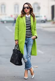 green winter coat outfit idea for 2016