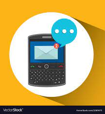Mobile cellphone receive message icon Royalty Free Vector