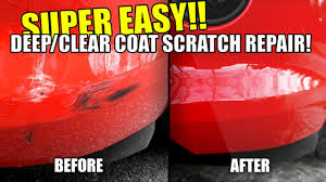 how to repair car scratches in paint deep scratches clear coat super easy