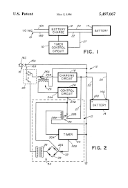patent us battery charger timer controlled charging patent drawing