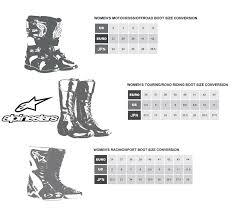 Alpinestar Tech 3 Size Chart Alpinestars Stella Tech 3 Motorcycle Boots