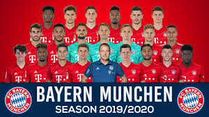 This logo image consists only of simple geometric shapes or text. Bayern Munchen Official Squad 2019 2020 Youtube