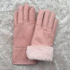 2019 pink winter women leather gloves wool genuine leather sheepskin gloves solid sheep fur mittens elegant warm female n28 from duoyun 86 79 dhgate com
