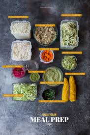 Basic Meal Prep For Daily Vegetarian Lunches Recipes