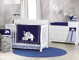 Koala Baby First Love 4 Piece Crib Bedding Set - Elephant - Navy/Light Blue