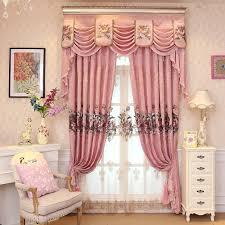 Nach Maß Luxus Bestickt Volant Dekoration Rosa Tuch Vorhang Für