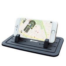 ipow new silicone pad non slip dash mat car mount holder cradle dock for phone samsung s5 s4 s3 iphone 4 5 5s 6 6s plus 7 and gps black table pc holder