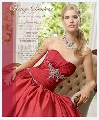 お色直し ドレス 赤カラードレスは祝いにふさわしい1着