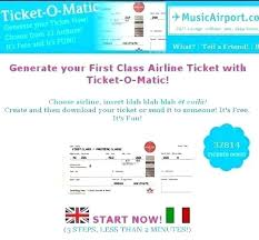 Make Free Tickets Fake Airline Ticket Template For E Printable Tickets Large