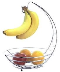 unique fruit bowl this features a hook for hanging and preventing bruises on bananas gs while