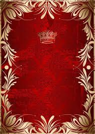gold pattern on red background vector