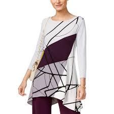 Alfani Size Chart Women S Alfani Plus Size Printed Swing Top Womens Shop The Exchange