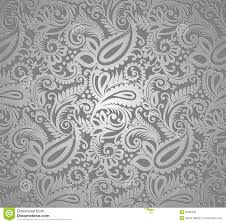 Paisley Silver Wallpaper Stock Vector Illustration Of Cover 32385592