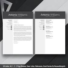 Instant Download The Antonia Resume Resumedesignco
