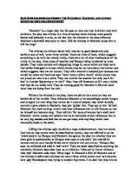 how does shakespeare present the witches in macbeth and to what page 1 zoom in essay