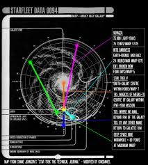 Star Trek Galaxy Chart The Route Of Voyager A New Solution The Trek Bbs