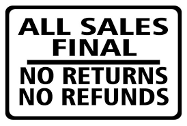 Image result for no Returns