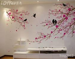 tree wall art cherry blossom with birds wall decal tree wall decor subno subno  on wall art tree images with tree wall art cherry blossom with birds wall decal tree wall decor