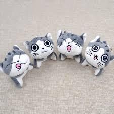 <b>Kawaii</b> Grey Sitting 9CM CAT Plush Stuffed Toys , Bouquet Gift Soft ...