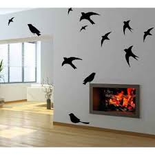 wall art decor black birds in flight wall decal on flight wall art with wall art decor black birds in flight wall decal countrychicdecals